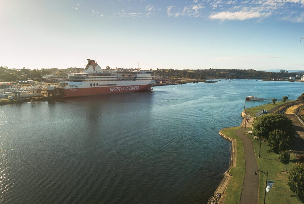 The Spirit of Tasmania in Devonport, Tasmania